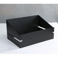 ブッフェスタンド(マットブラック) 49.5x32.5x(15.5/25.5)cm