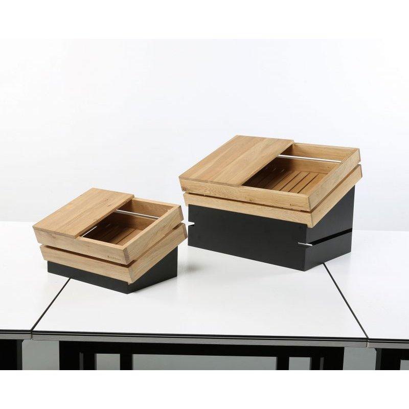 木製トレイ、ステンレスブッフェスタンドとの組み合わせ例