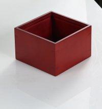 ラバーウッドボックス 14.2x14.2x9.2cm